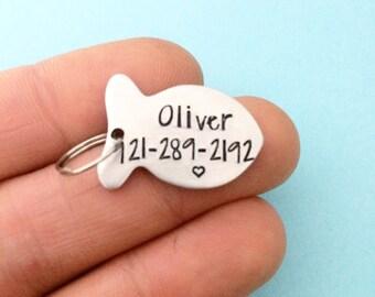 Pet Id tag, Id tag for cats, cat id tag, custom cat tags, pet tags, cat tags personalized, cat collar, new pet