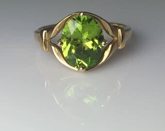 Peridot 10K Yellow Gold Ring