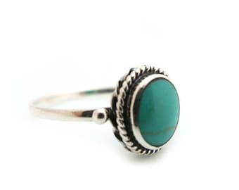 Turquoise Ring, Silver Ring, Turquoise and Silver Ring, Turquoise jewellery, Statement Ring, Silver Boho Ring, Gift for Her, Under 30