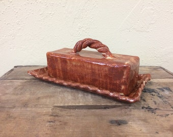 Butter Dish for butter quarters with base and lid