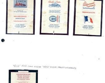1939 World's Fair Domino Sugar Packets - 4 Variety