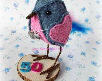 """Little Tweet """"Ava"""" - Mum - Birthday - Special Occasion - Bird"""