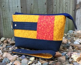 Clutch bag, Classic Clutch, medium clutch, clutch purse, medium purse, zipper clutch, cork purse, yellow purse, clutch