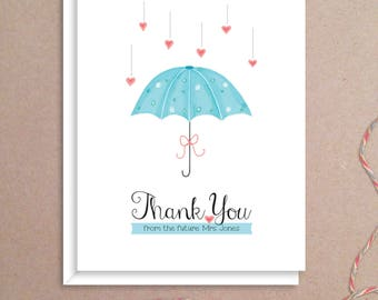 shower umbrella note cards bridal shower folded note cards bridal stationery bridal shower