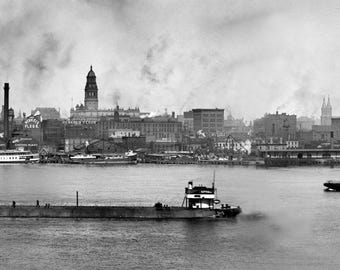 1906 - Detroit waterfront in panoramic