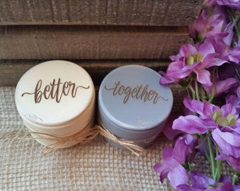 Rustic Ring Bearer Pillow   Ring Bearer Boxes   Set of Two   Engraved Wooden Ring Box   Wedding Gift with Lace   Better Together