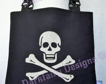 Skull & cross bone tote bag