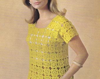 Vintage crochet pattern blouse top pdf INSTANT download pattern only pdf