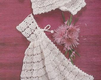 Vintage crochet pattern angel top pants cape pdf INSTANT download baby pattern only pdf 1970s