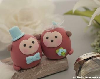 Monkey  wedding cake topper