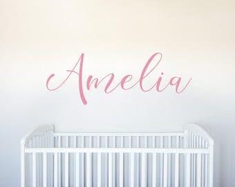 Name - Personalized Custom Vinyl Decal Wall Art Decor for Nursery Children Girls Babies Room