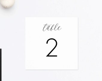Table Numbers, PDF Wedding Table Numbers, Head Table Card, Reserved Card, Table Numbers Printable, Table Decor, Wedding Numbers, PDF
