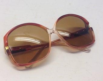 Ray Ban B&L | Vintage | 1970s | Sunglasses | Honey/red | Oversized | Mod. Ray Ban Crys Harv 34