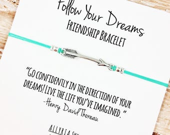 "Charm Friendship Bracelet with ""Follow Your Dreams"" Card 