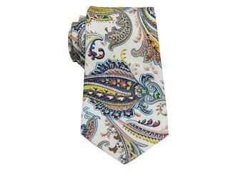 Mens Paisley Ties.Novelty Neckties.Paisley Wedding Tie.Mens Paisly Cotton Ties.Gift.