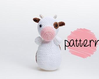 Crochet Cow Amigurumi Pattern, Crochet Toy Pattern, Crochet Cow Pattern, Cow Plush, Crochet Animal, Toy Pattern