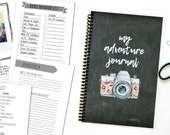 My Adventure Bucket List Journal Chalkboard Camera 40 Adventure Layouts and MORE 5.5X8.5 Coil Bound Lay Flat