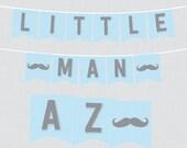 Mustache Baby Shower Bann...