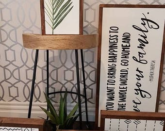 Palm leaf mini wood sign 8x12""