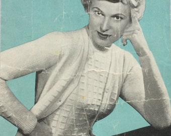 Vintage Knitting Pattern Ladies 'Charming Twin Set' 1950s
