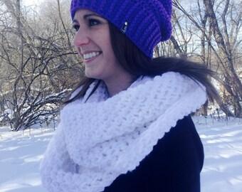 Crochet Ribbed Slouchy Hat | Purple | iHat v7.0