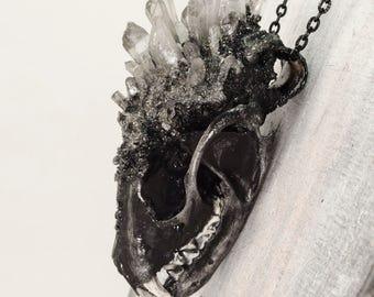 Taxidermy Jewelry - Bone Jewelry - Bone Necklace - Marten Skull Necklace - Mink Skull - Animal Bone - Unique Necklace