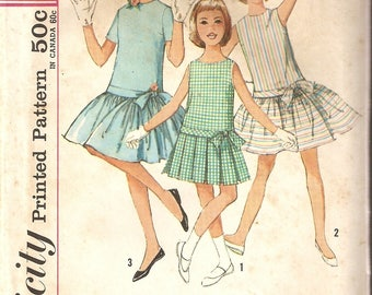 VINTAGE Simplicity Sewing Pattern 4926 - Children's Clothes - Girl's One-Piece Dress and Petticoat, Size 12