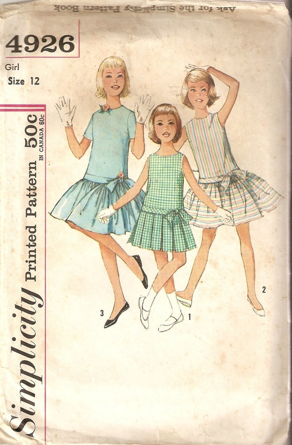child haircut vintage simplicity sewing pattern 4926 children s 4926