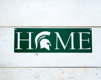 Michigan State University Spartan Home Steel Art**Pre-Order (3-4 weeks shipping)