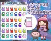 Planner Stickers Gas Pump Stickers Fuel Stickers Petrol Stickers Hand Drawn Stickers for Erin Condren and Happy Planner Accessories 442
