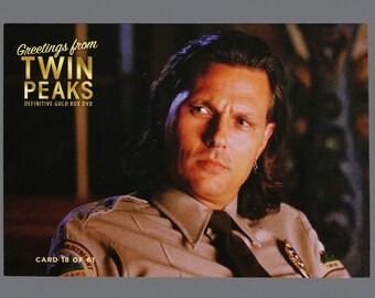 """Twin Peaks Gold Box Postcard Card # 18 of 61 Tommy """"Hawk"""" Hill"""