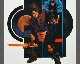1980 Howard Chaykin Print Cody Starbuck Limited Edition 167/1000 Color Illustration Art