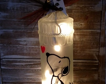 Snoopy Lighted Wine Bottle/lamp/Decoration/Peanuts