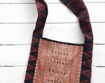 Unique Karen Bag/Woven Hobo Bag/Handmade Unique Bag/Tribal Hobo Bag/Karen Hobo Bag/Hill Tribe Woven Bag/Shoulder Bag/Crossbody Bag/Hip Bag