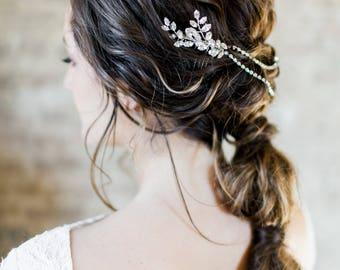 Bridal Headpiece, Wedding Headpiece, Rhinestone Headpiece, Crystal Hairpiece, Bridal Hairpiece, Wedding Hairpiece-Style 315-Blythe