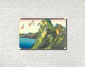 Japanese Print, Andō Hiroshige, Japanese Art, Old Masters Fine Art Print : Hakone, Classical Art Iconic Landscape