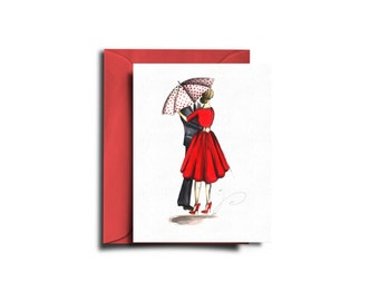 Valentine's Day Card, Valentine's day, Love card, Fashion card, Valentine Card, I love you card, Love cards, Fashion illustration