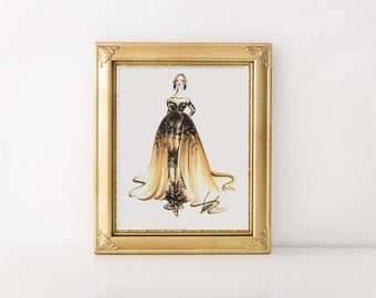 Fashion illustration, Pastel wall art, Fashion art, Fashion print, Fashion sketch, Fashion wall art, Fashion painting, Pastel painting