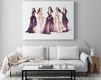 Fashion illustration, Fashion poster, Purple wall art, Pastel wall art, Fashion wall art, Fashion art, Fashion painting, Poster fashion