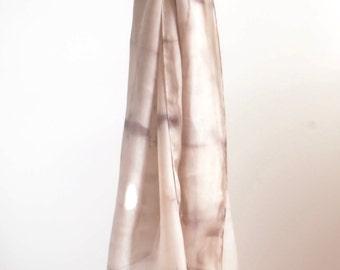 Natural Dye Silk Scarf - 45 x 180 cm - C1S005