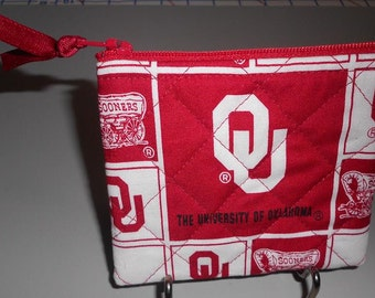 Coin Purse - University of Oklahoma Fabric - CP193