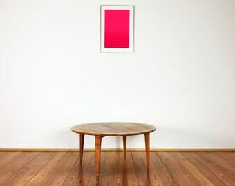 Round sofa coffee table coffee table teak Danish modern design mid century