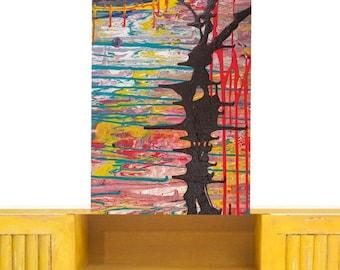 Surealism - large abstract canvas art print  ,living room wall art ,original absrtract wall art, original abstract art painting, modern art.