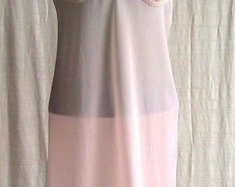 """Size 36"""" 1950s CREPOLIN Pink Slip"""