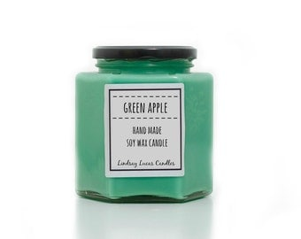 Apple Candle, Apple Scented Candle, Green Apple Explosion, Granny Smith Scent, Apple Scent, Strong Candle, Fruity Candle, Green Candle