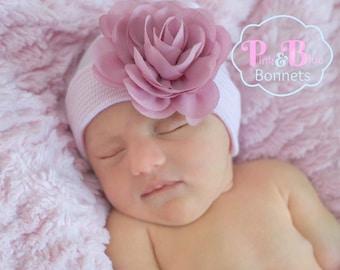 A Girl Newborn GIRL HATS, baby girls newborn hat, baby girl hat, girl baby hat, hat baby girl, newborn girl, newborn hat, girl baby newborn