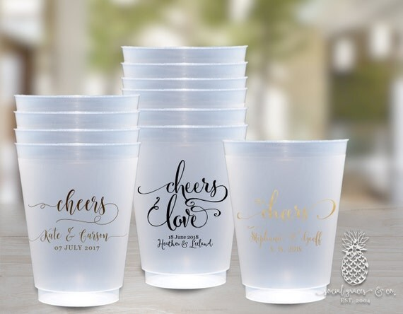 wedding cups personalized frosted cup by partypaperpresents
