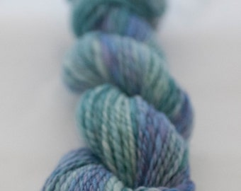 Blue green handspun Australian Merino - 2 ply