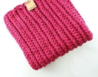 Baby Blanket Pink – Handmade Throw – Knit Blanket – Wool Blanket – Crochet Blanket – Baby Afghan – Photo prop – Car Seat Throw
