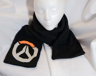 Overwatch Logo Fleece Scarf Cosplay Blizzard Plush
